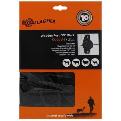— 006734 — Gallagher Een zeer sterke isolator voor houten palen. Geschikt voor HT-draad en Vidoflex. 006734 — Gallagher