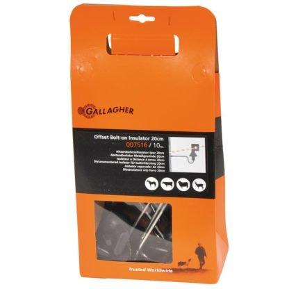 — 007516 — Gallagher Voor het snel en doeltreffend elektrificeren van bestaande niet-elektrische afrasteringen. Met een isolator die geschikt is voor kunststofdraad en cord tot 9mm. Deze isolator met schroefdraad is geschikt voor betonnen en ijzeren palen. (Lengte 200mm, draadlengte 110mm M6 incl. 2xmoer). 007516 — Gallagher