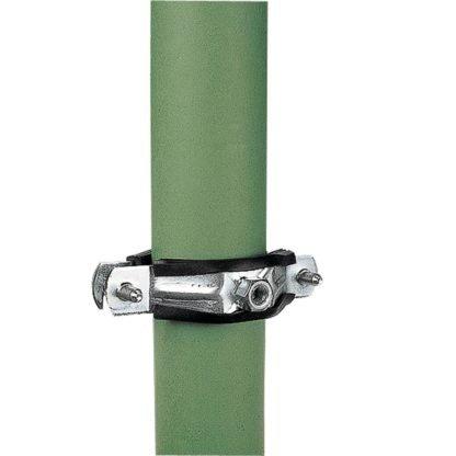 — 008780 — Gallagher Speciaal ontwikkelde buisklem die past op iedere tuindraad- of gaasomheining. Op de buisklem zit een aansluitpunt zowel M6 als M8 voor de isolatoren art.nr. 010714/057795/007516, zodat u ook uw tuindraadomheining kunt beschermen. De buisklem is voorzien van een rubber inleg om beschadiging aan de paal te voorkomen. 008780 —