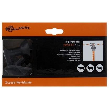 — 009411 — Gallagher Topisolator speciaal geschikt voor de veerstalen paal 019274 / 008902 —
