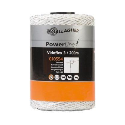 — 010554 — Gallagher Kunststofdraad met 6 roestvrijstalen draden en 3x6 polyethyleendraden. Geschikt voor korte verplaatsbare afrasteringen. 010554 —