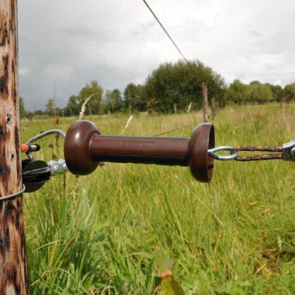 — 057979 — Gallagher Robuuste poortgreep met zwart rubber profiel voor optimale grip. Geschikt voor cord of draad. 057979 — Gallagher