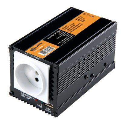— 069392 — Gallagher Maakt het mogelijk om alle 230V apparaten op een 12V energiebron aan te sluiten. Ideaal voor projecten met zonnepanelen. Efficiency van de omvormer >95%. 069392 —