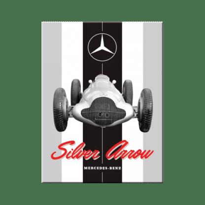 — NA14374 — Magnet 'Mercedes-Benz - Silver Arrow' — Nostalgic Art