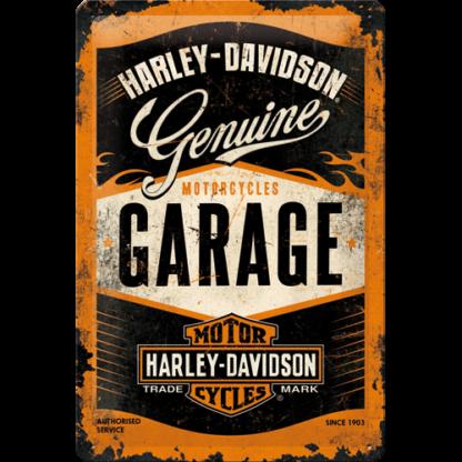 — NA22238 — Tin Sign 20 x 30cm 'Harley-Davidson Garage' — Nostalgic Art