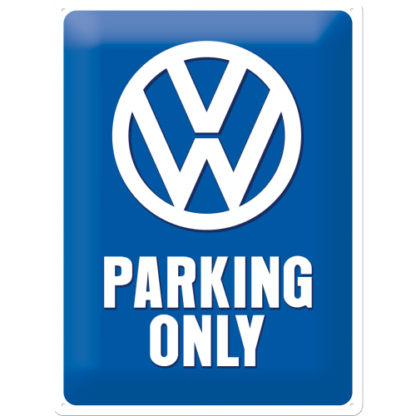 — NA23135 — Tin Sign 30 x 40cm 'VW Parking Only' — Nostalgic Art