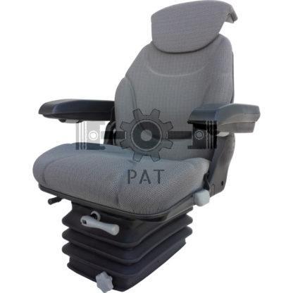 — 240920050 — ● schaarvering met hydraulische schokdemper, ● gewichtsinstelling van 50 tot 130 kg , ● veerweg 100 — GRANIT