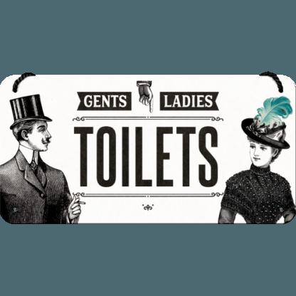 — NA28014 — Hanging Sign 'Ladies & Gentlemen Toilets' — Nostalgic Art