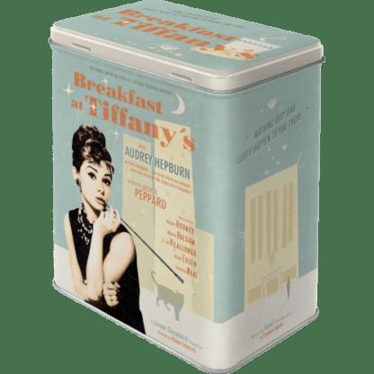 — NA30119 — Tin Box L 'Breakfast at Tiffany's Blue' — Nostalgic Art