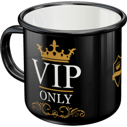 — NA43201 — Enamel Mug 'VIP Only' — Nostalgic Art