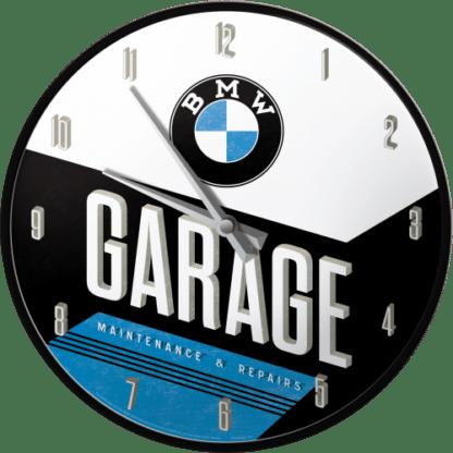 — NA51077 — Wall Clock 'BMW - Garage' — Nostalgic Art