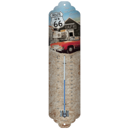 60 L drum Kroon olie Armado Synth LSP Ultra 5W-30 — NA80132 — Thermometer 'Route 66 The Mother Road' —