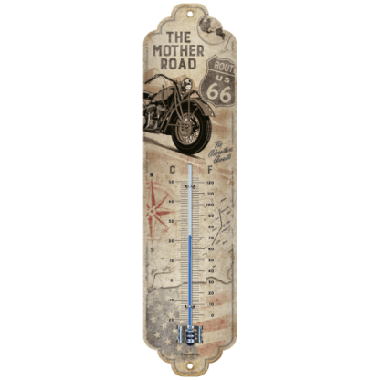 60 L drum Kroon olie Armado Synth LSP Ultra 5W-30 — NA80327 — Thermometer 'Route 66 Bike Map' —