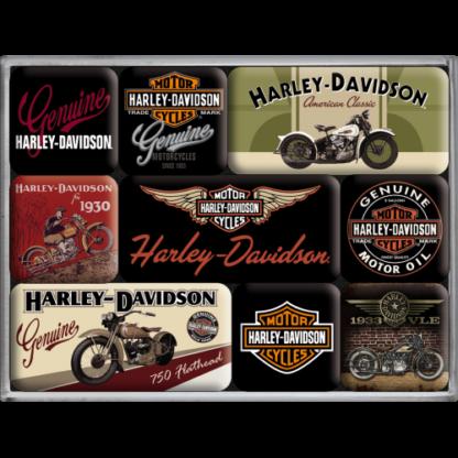 60 L drum Kroon olie Armado Synth LSP Ultra 5W-30 — NA83037 — Magnet Set (9pcs) 'Harley-Davidson Bikes' —