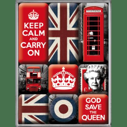 — NA83059 — Magnet Set (9pcs) 'United Kingdom' — Nostalgic Art
