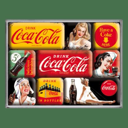 60 L drum Kroon olie Armado Synth LSP Ultra 5W-30 — NA83072 — Magnet Set (9pcs) 'Coca-Cola - Yellow Mix' —