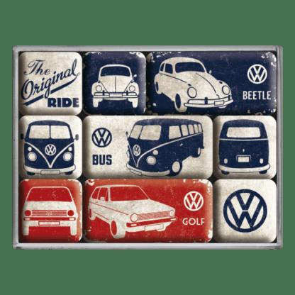 60 L drum Kroon olie Armado Synth LSP Ultra 5W-30 — NA83075 — Magnet Set (9pcs) 'VW - The Original Ride' —