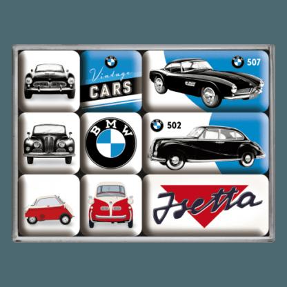 60 L drum Kroon olie Armado Synth LSP Ultra 5W-30 — NA83078 — Magnet Set (9pcs) 'BMW - Vintage Cars' —