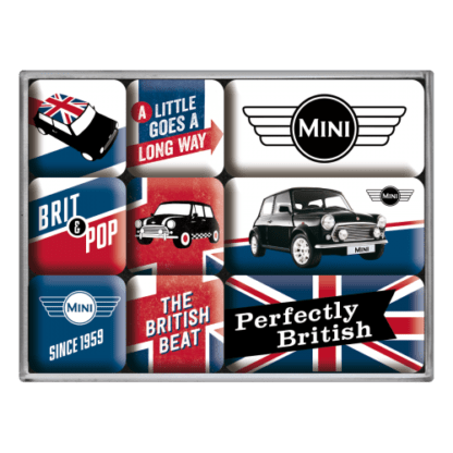 60 L drum Kroon olie Armado Synth LSP Ultra 5W-30 — NA83079 — Magnet Set (9pcs) 'Mini - Union Jack' —