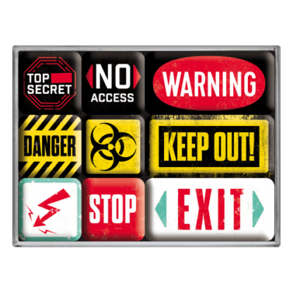 60 L drum Kroon olie Armado Synth LSP Ultra 5W-30 — NA83094 — Magnet Set (9pcs) 'Warning' —