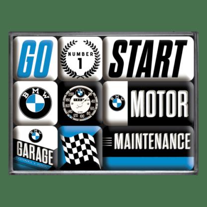 60 L drum Kroon olie Armado Synth LSP Ultra 5W-30 — NA83097 — Magnet Set (9pcs) 'BMW - Motor' —