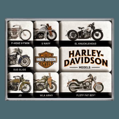 60 L drum Kroon olie Armado Synth LSP Ultra 5W-30 — NA83102 — Magnet Set (9pcs) 'Harley-Davidson - Model Chart' —