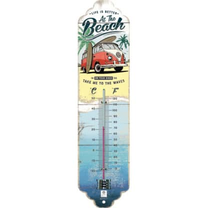 60 L drum Kroon olie Armado Synth LSP Ultra 5W-30 — NA80334 — Thermometer 'VW Bulli - Beach' —