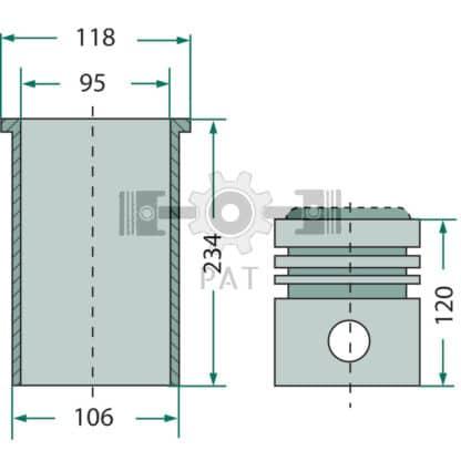 60 L drum Kroon olie Armado Synth LSP Ultra 5W-30 — 15406203 — Fendt,KD 12,Zuiger- en cilinderset, 15406203 —