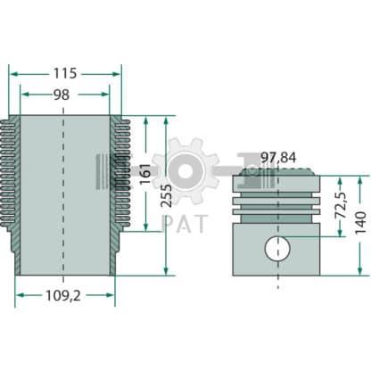 — 15406204 — Renault,AKD 112,Zuiger- en cilinderset, 15406204 — Renault