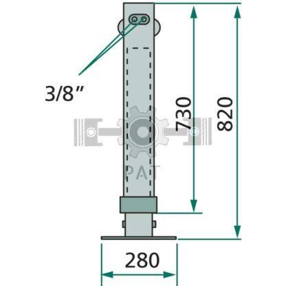 "— 220H1050 — max. druk 200 bar 3/8"" binnendraad 100 bar = 2800 100, vierkant — GRANIT"