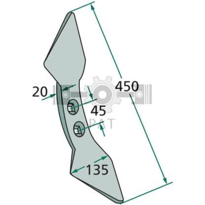 — 23532 RS300 45 — radius: 300, gatafstand: 45 M 12 DIN 608 — Beitels voor diverse fabrikanten