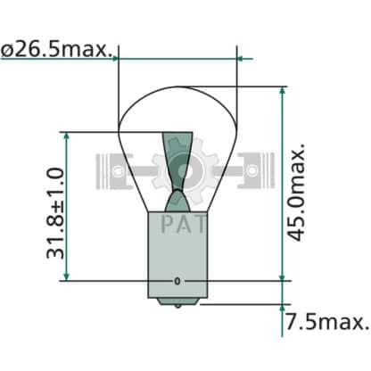 — 47712V21WK — knipper-, rem-, mist- en achteruitrijlicht BA 15 s — GRANIT
