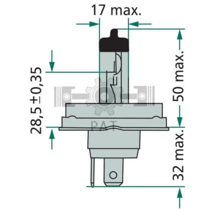 — 44712475C1 — koplamp, vervangt 12V 45/40W kogellamp P 45t - 4I — PHILIPS