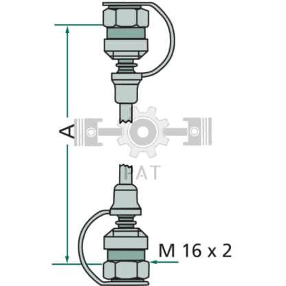 60 L drum Kroon olie Armado Synth LSP Ultra 5W-30 — 85000015 — 1500 M16 x 2 630 2 — Granit